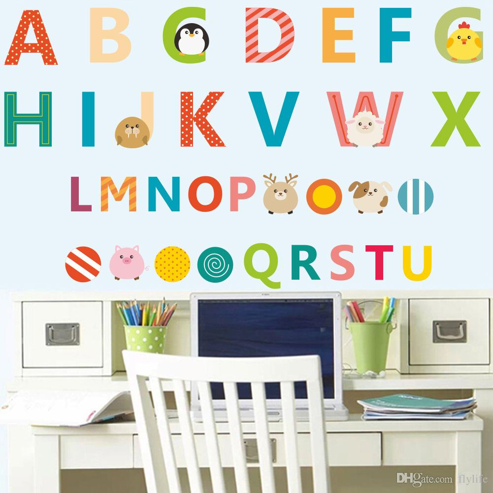 diy colorful english letters elphabet wall sticker for kids rooms diy colorful english letters elphabet wall sticker for kids rooms nursery cartoon room decor wall decal