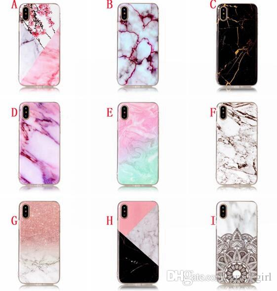 Marble Stone Painted Soft TPU Case For Samsung Galaxy S9 PLUS NOTE 8 J3 J5 J7 2017 EU J330 J530 J730 LG K8 2017 Cell Phone Skin Cover 100pcs