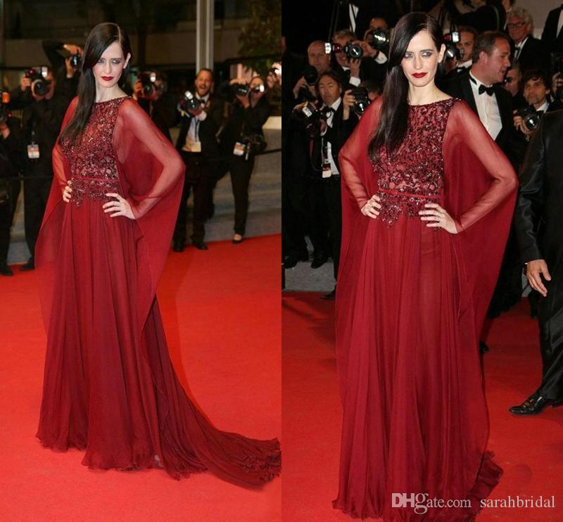 Scoop Red Elegant gowns Celebrity country Sparkling prom dress Runway 2019 pregnant fairy modest prom dresses evening gowns elie saab