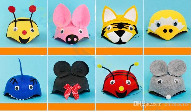Çocuk Cadılar Bayramı Noel çocuk yetişkin Parti sahne Cosplay Kostümleri 3D şapka doğum günü Anaokulu oyunu Karikatür hayvan kap headdress