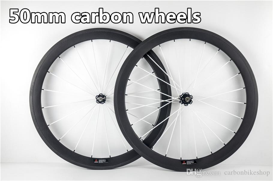 Free shipping Factory sale Good quality and cheap 3K/UD/1K road bike 50mm carbon wheels with 23mm Novatec A271 hubs