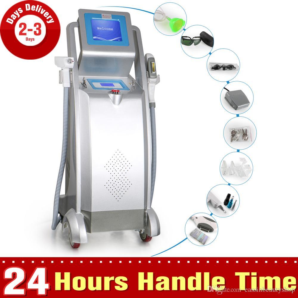 3in1 IPL RF Haarentfernung Yag Laser Tattoo Entfernung Schönheit Ausrüstung E-Licht Haut-Verjüngungs-Maschine