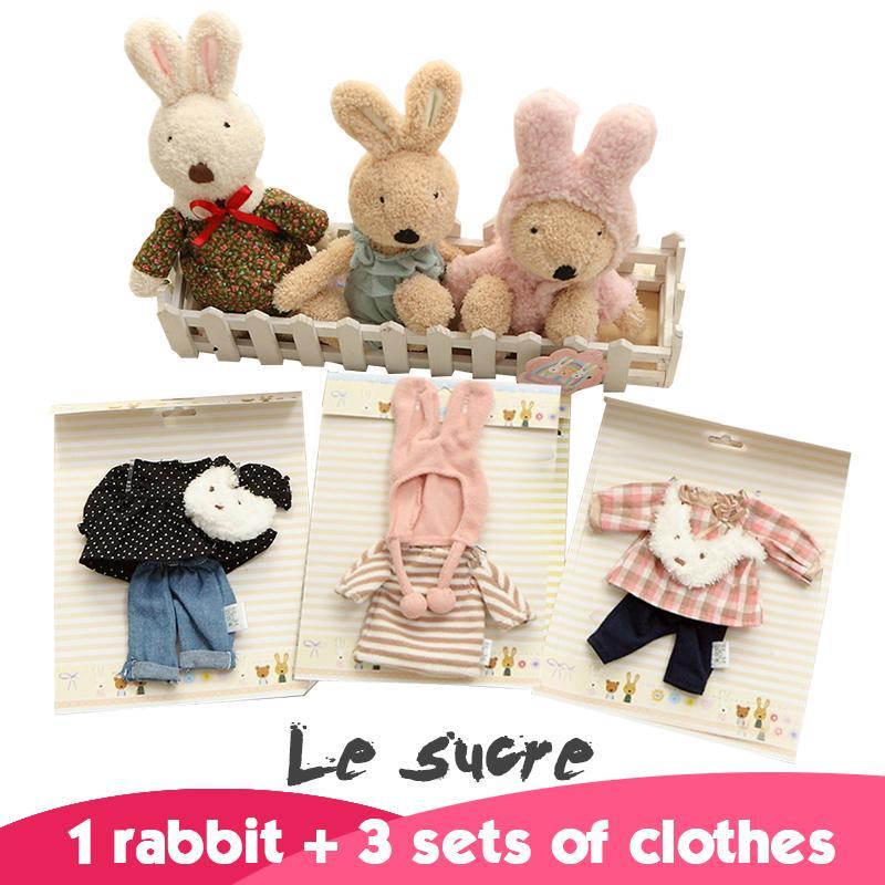 kawaii original le sucre conejo conejo peluche muecas conejo juegos de ropa