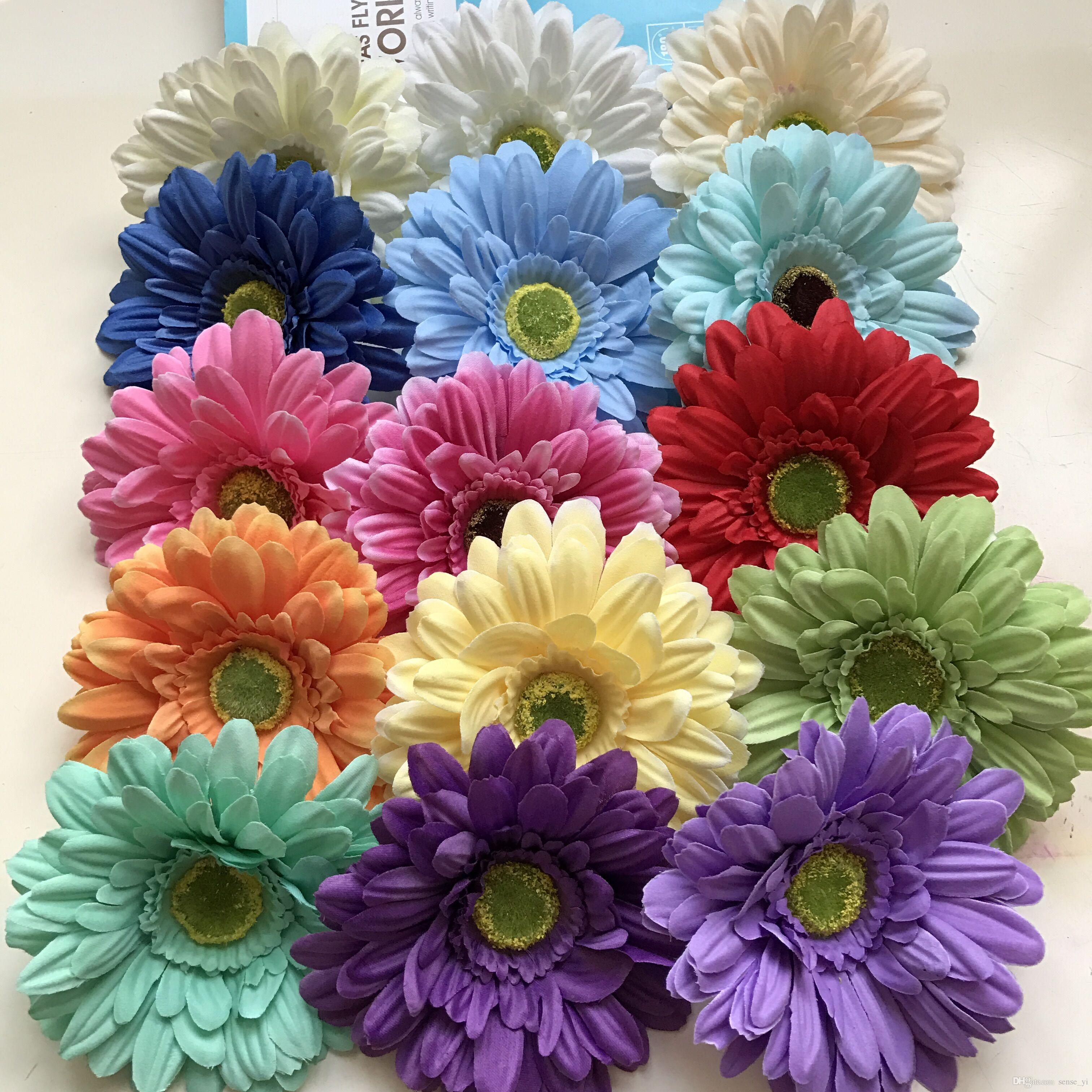 100pcs Silk Daisy Artificial Flowers For Wedding Home Decoration 13cm Chrysanthemum Mariage Flores Decorative Flowers Plants