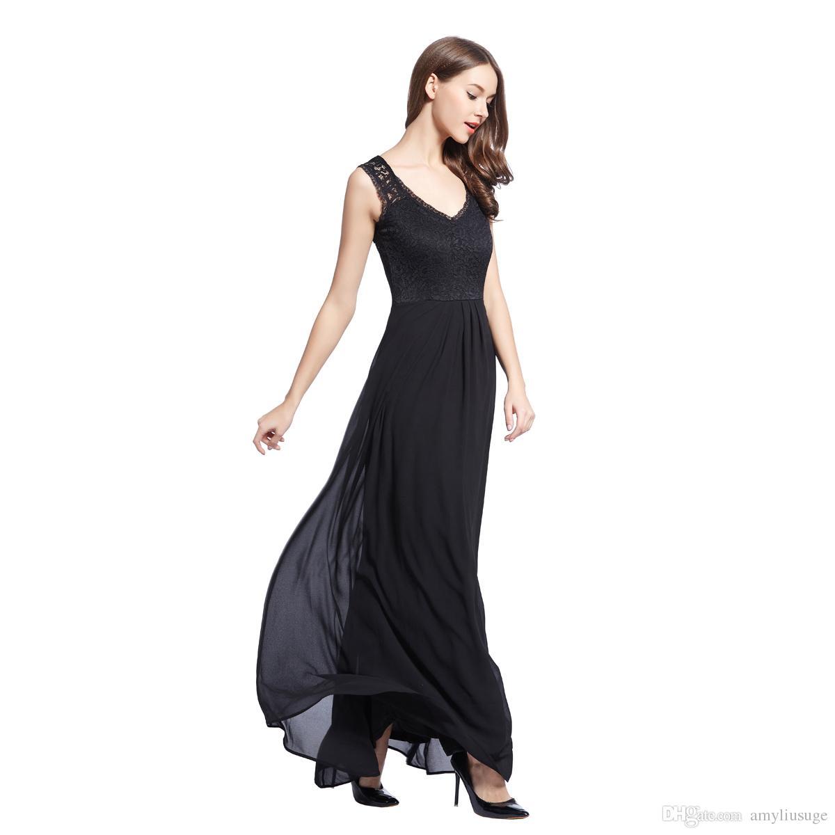 fd1f01ec99 Envío gratis vestido de bola de las mujeres Prom Maxi largo gasa noche  formal del vestido de dama de honor de la boda vestido de fiesta vestido  3193