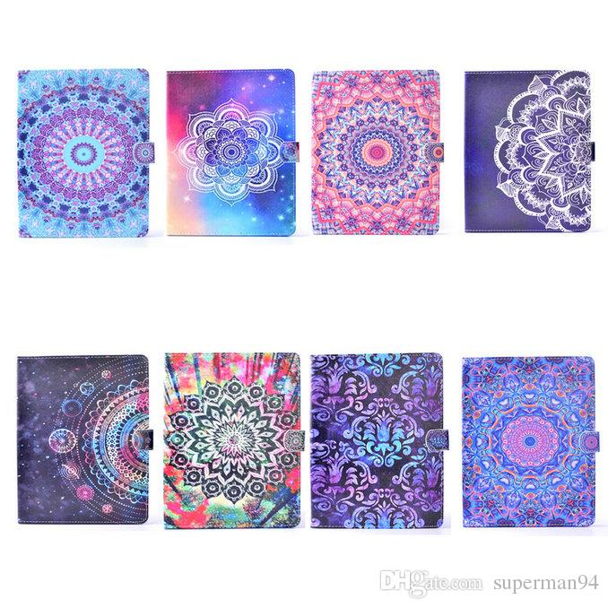 Mandala Print Folio Stand Leather Case Flip Smart Cover w/ Wallet Cards Holder for iPad Air / Pro 9.7""