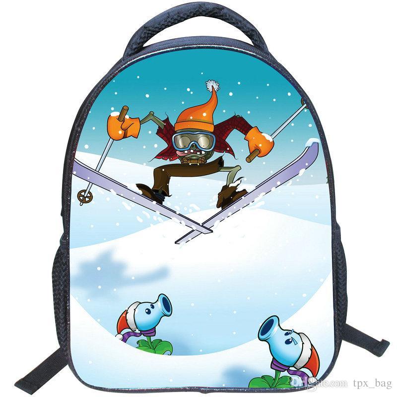 Plants vs Zombies backpack hot daypack PVZ schoolbag لعبة حقيبة الظهر الرياضة حقيبة مدرسية في الهواء الطلق حزمة اليوم