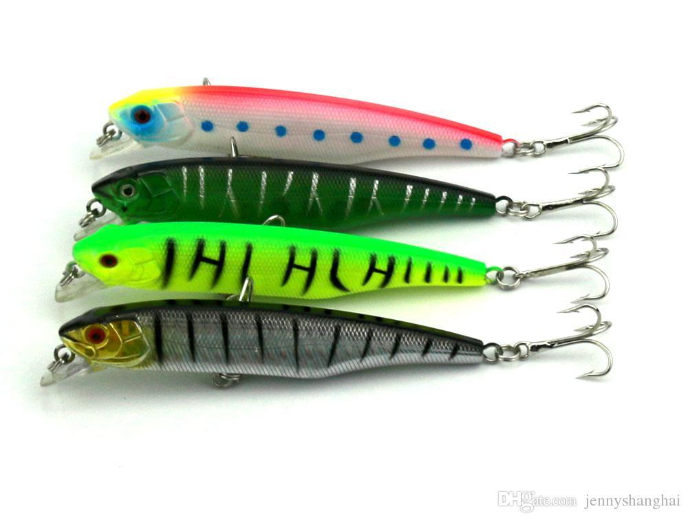 HENGJIA 4 Farben 4 Teile / los Länge 10,5 CM Gewicht 17G Fischköder Harten Köder Künstliche Vivid Schwimmen Fischköder Tackle