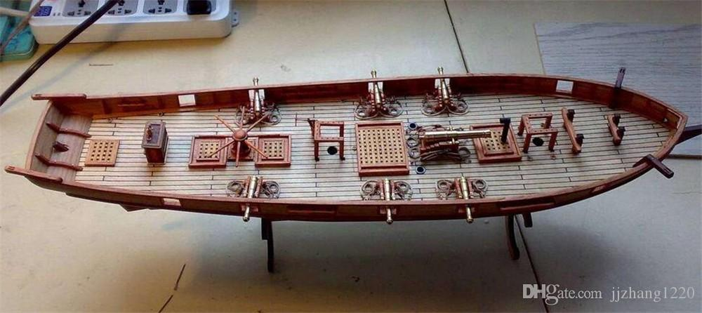 Scale 1 100 Classics Antique Wooden Sail Boat Model Kits Halcon1840 Ship Assembly Kit Sailboat Educational Toy Oliver Hazard Perry Class Frigate Model