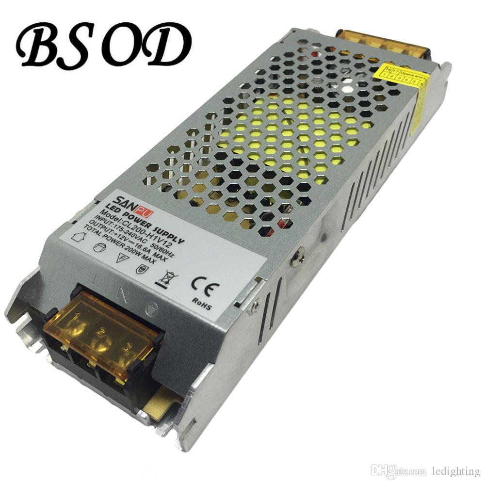 SANPU 200W DC12V 스위치 전원 공급 장치 AC-DC LED 조명 변압기 CL200-W1V12 울트라 씬 알루미늄 쉘 16.5A 드라이버