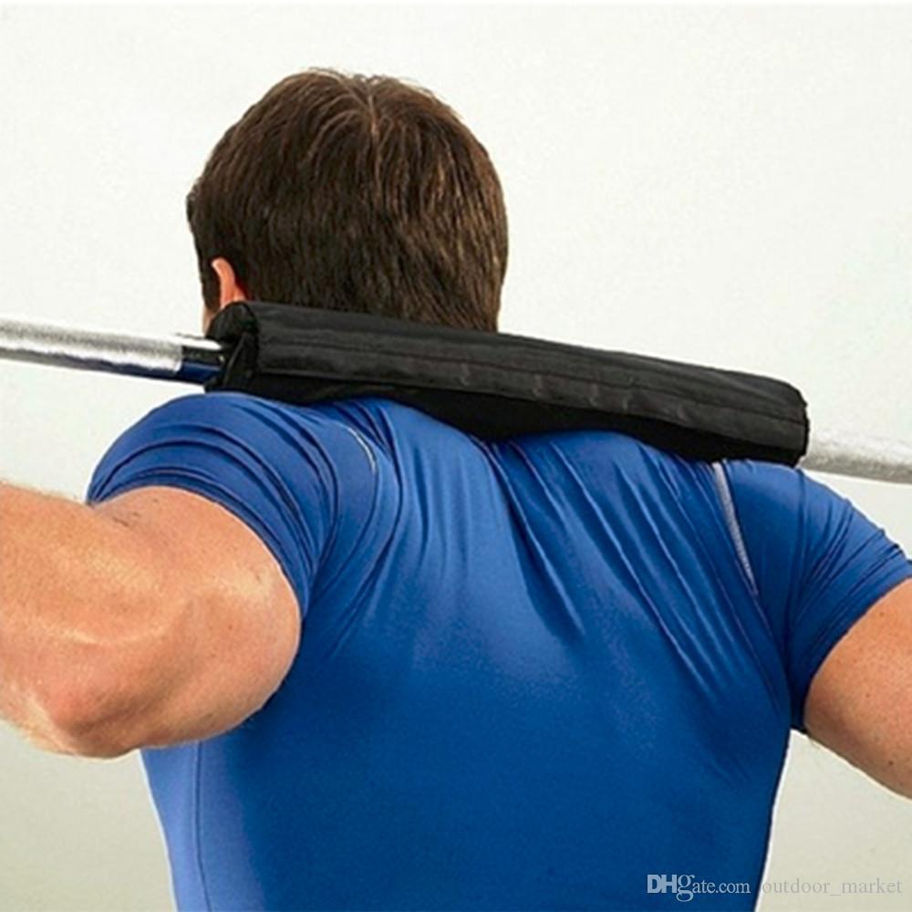 Штанга Pad гель поддерживает приземистый бар Тяжелая атлетика подтянуть захвата сторонников штангой колодки ремни с поддержкой запястья новый