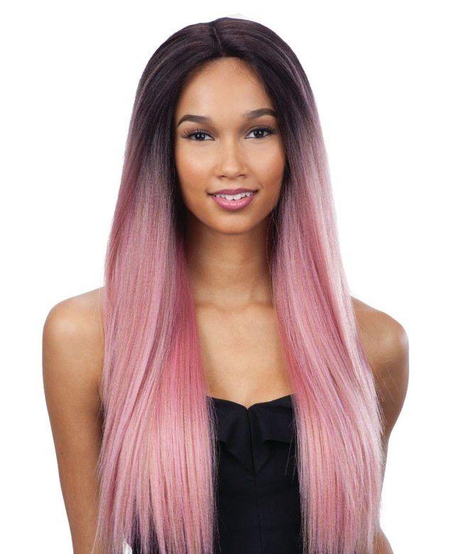 Nueva llegada Moda ombre peluca recta recta sedosa cabello humano simulación larga peluca completa recta en stock
