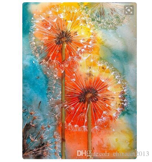 100% dipinto a mano pittura a olio su tela paesaggio bellissimo fiore per immagine wall art spedizione gratuita