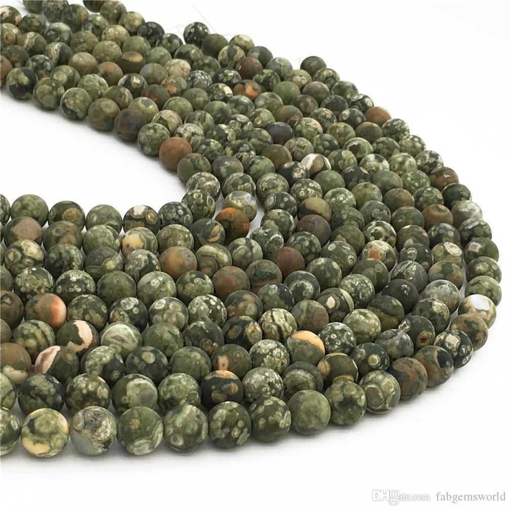 حبات الجاسبر غير المطلية باللون الأخضر غير اللامع ، حبات مستديرة بحجم 10 ملم ، أحجار كريمة بالجملة ، 15.5 إنش ، ستراند كامل ، ثقب 1 ملم
