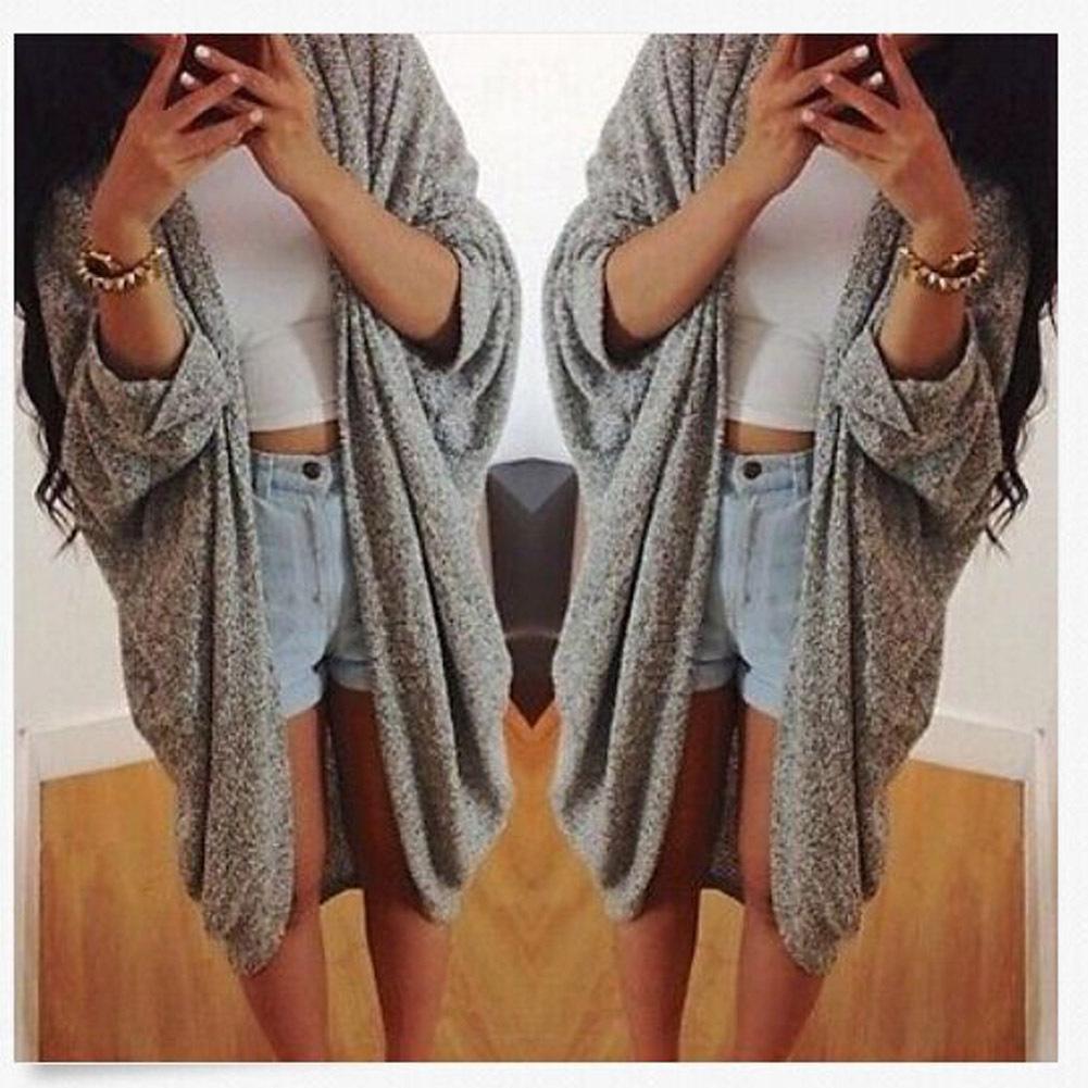 Winter Warmer Ladies Long Sleeve Cardigan Coat Jacket Sweatercoat Knitwear Tops