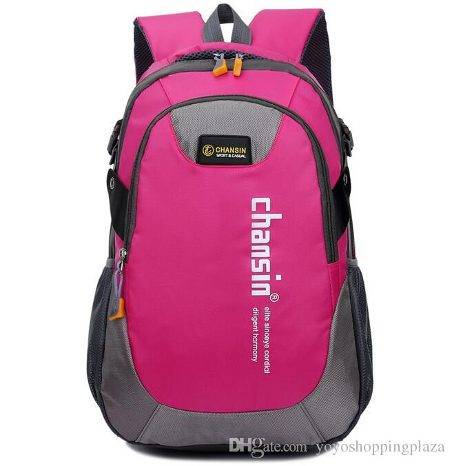 Pink Backpack Outdoor Fashion Leisure Black Girl Nylon School Bag ...