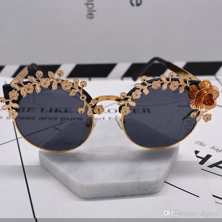 Großhandel Neue Luxus Barock Steampunk Sonnenbrille Gold Rahmen ...