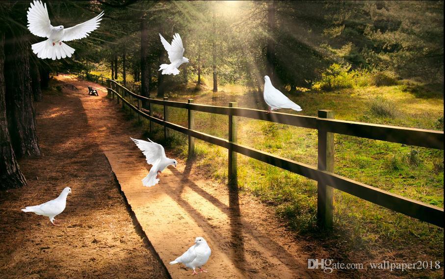 Парк Голубь фантазии природных птиц рисунок попугай ТВ фон обои для детской комнаты