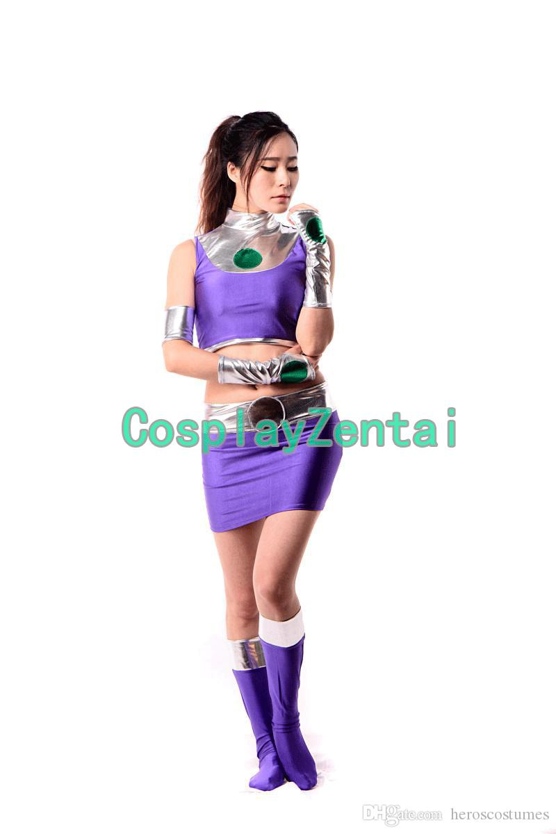 DC Starfire Female Cosplay Costume Zentai for Women Adult Halloween Party Cosplay Suit