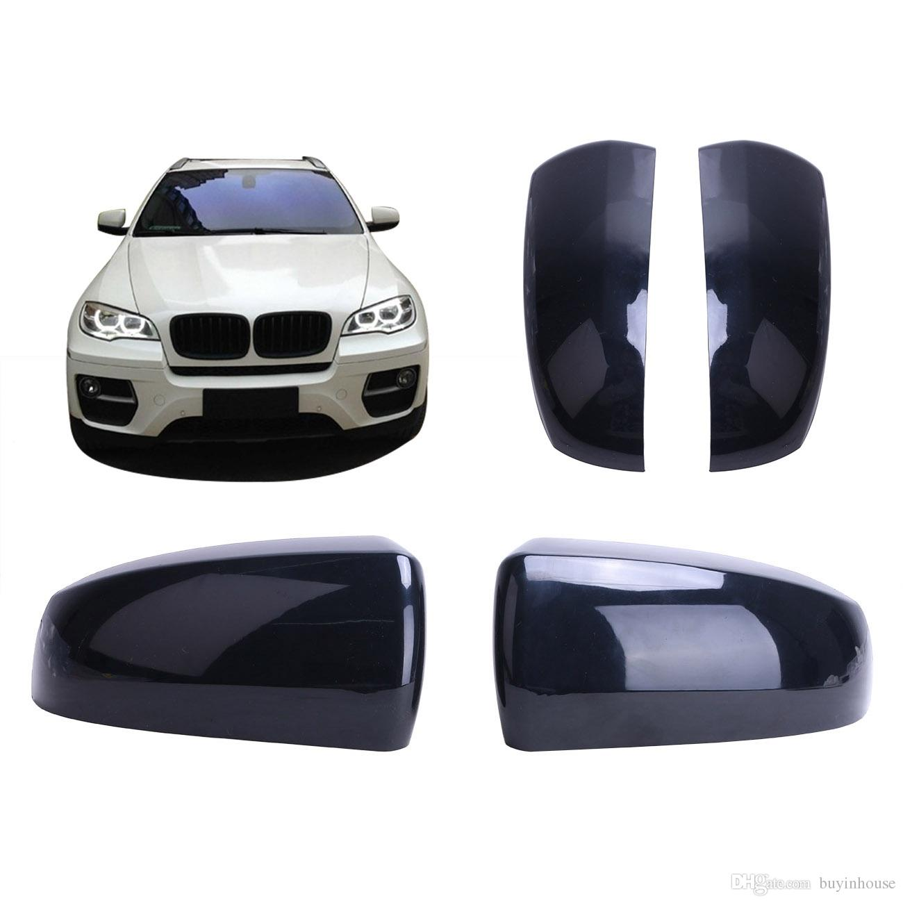 Painted ABS Mirror Cover M Look Replacement for BMW E70 X5 2007-2013 E71 X6 2008-2013 White