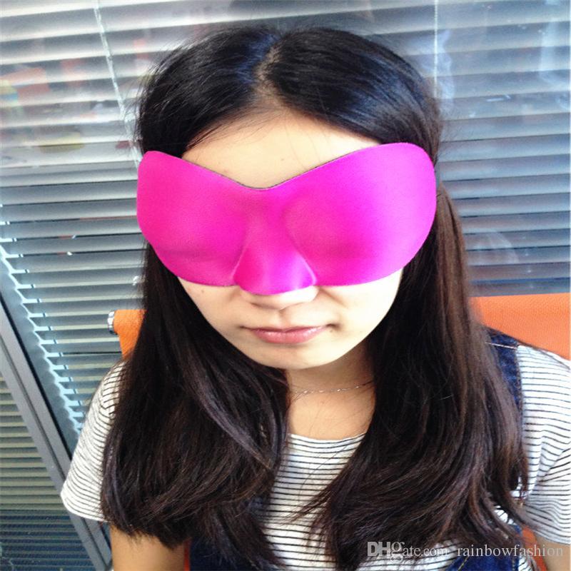 Llegadas de descanso cubrir el sueño 3D vendiendo con los ojos de vista de ojos Nueva Máscara de la máscara Shade gratis Esponja Hot Travel Eye Shipping xnmoo