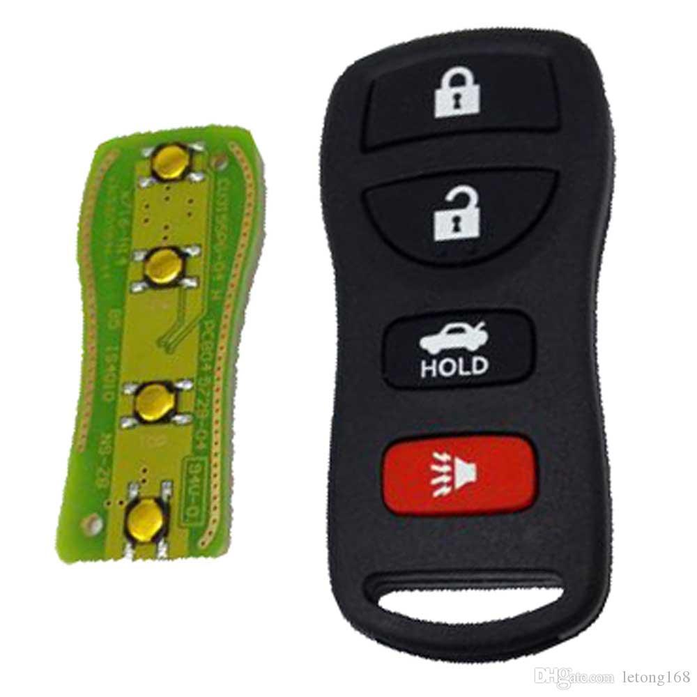 Garantía 100% 2PCS 4Buttons Reaplace Remote Keyless Entry Remote Fob Transmisor Clicker Beeper Alarma Envío Gratis