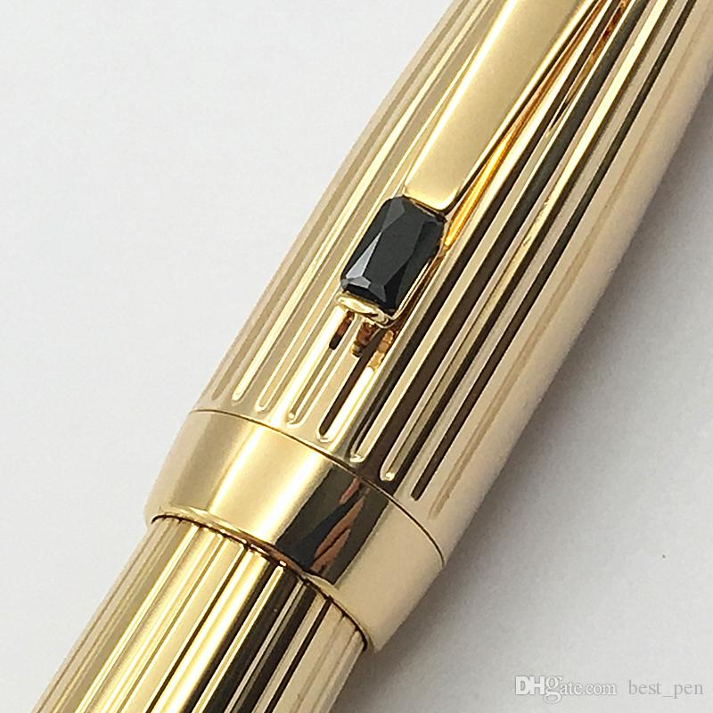 Luxury Mount Black pen canetas Bohemia edition Black gem golden ag925 , big barrel high quality Roller pen