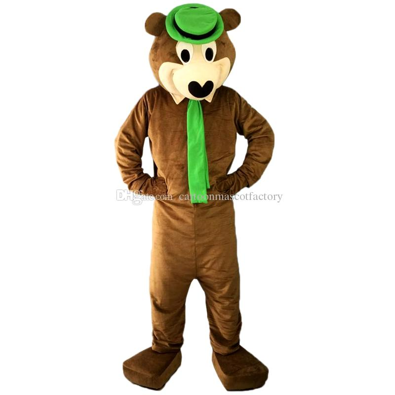 Professional New Brown Yogi Bear Mascot Costume Fancy Dress Adult Size