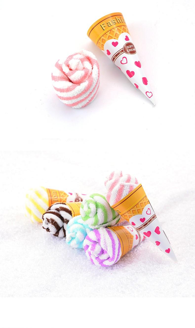 wedding towel ice cream rose flower hand towel for wedding table centerpieces decoration (5)
