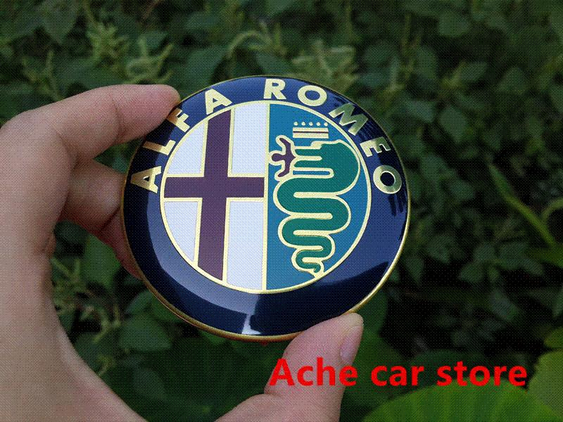 2pcs Specials sale 2016 new 74mm 7.4cm ALFA ROMEO Car Logo emblem Badge sticker for Mito 147 156 159 166 Free shipping