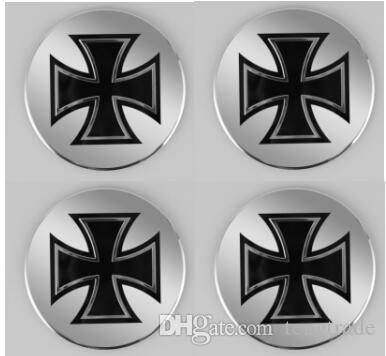 High Quality 56.5mm Aluminum alloy Sticker emblem badge Cross for Car Wheel centre cover