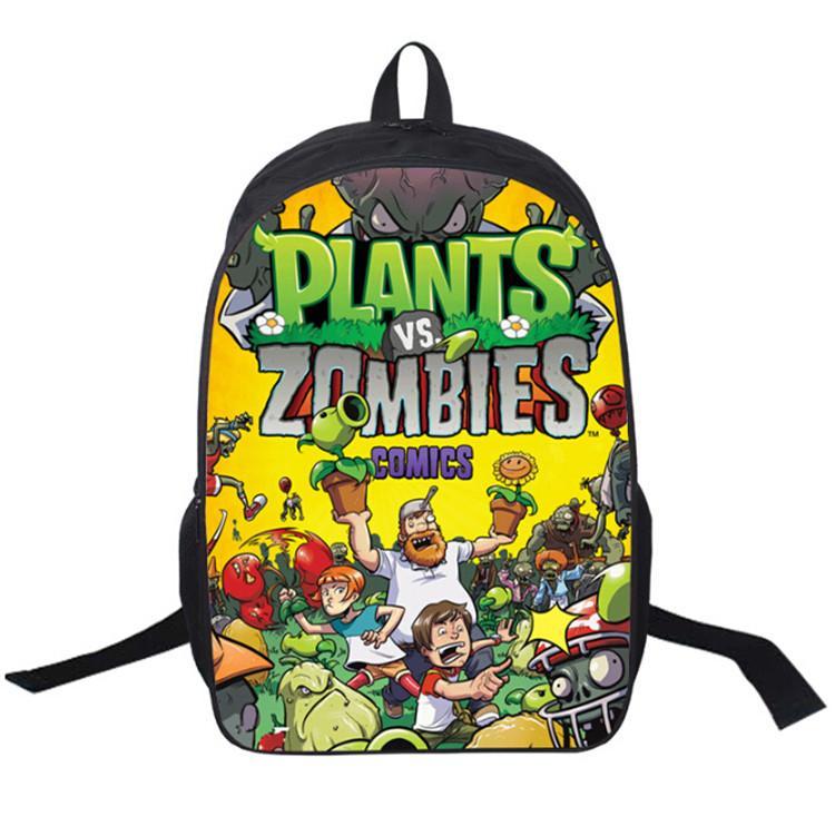 17 인치 어린이 학생 학교 가방 식물 대 좀비 배낭 소년 틴에이저 여행 가방 스포츠 배낭 배낭