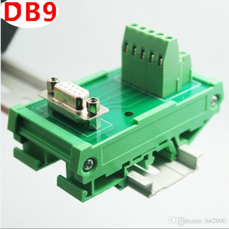 DB9 male / female socket terminal block breakout board adapter Connector DIN Rail