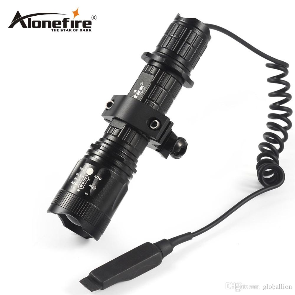 AloneFire TK400 Tactical Flashlight L2 LED Torch Lamp Flash Light Lantern with Mount Remote Control Pressure Switch by 18650