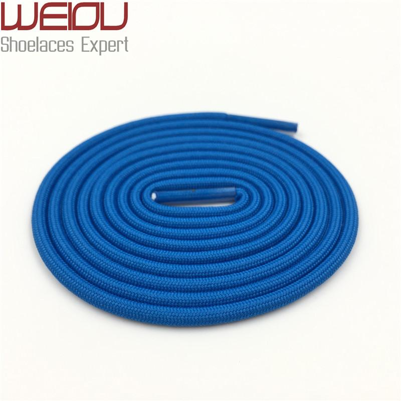 Weiou Rope Round Multi Colored Blue Grey Apricot Polyester Stretchable Unisex Fashion Shoe Strings 140cm