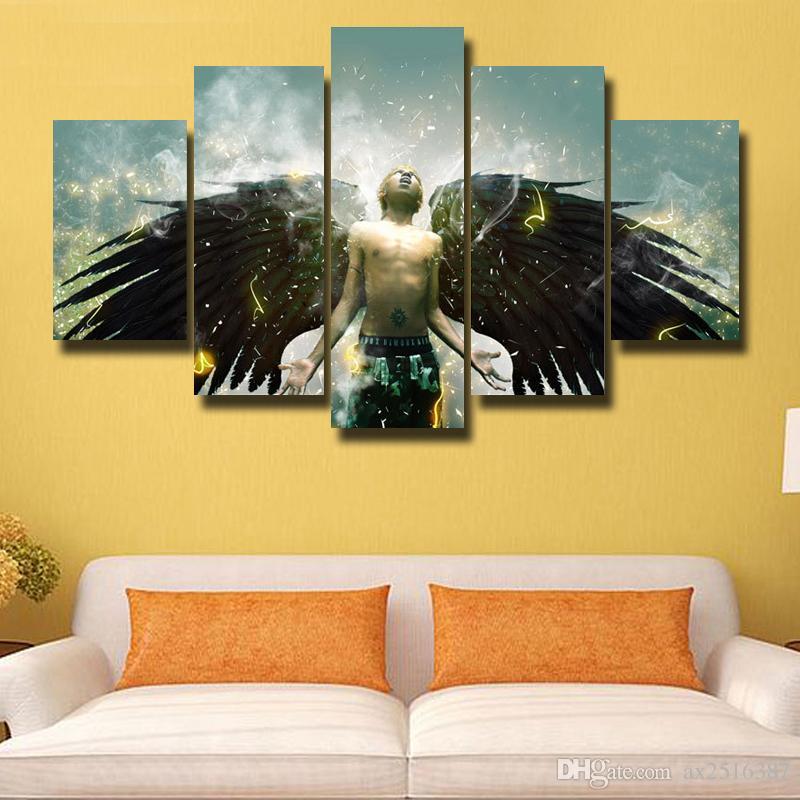 5 Pcs / Ensemble HD Photo Impression Sur Toile Peinture Moderne Mur de Toile Art Cadeau Pour La Maison Décoration Belle image # 168