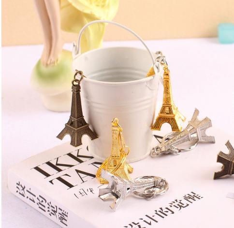 الجملة-- 30pc برج ايفل برج كيشاين التذكارات الرئيسية ، باريس تور ايفل المفاتيح ريفي هدايا الزفاف للضيوف المركزية الزفاف