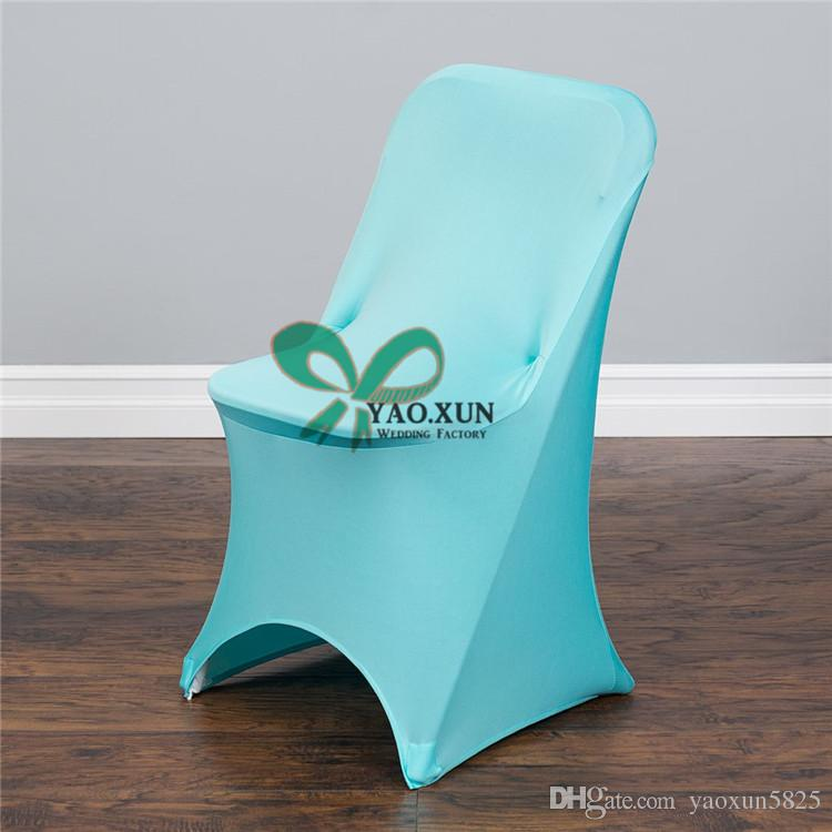 Folding Lycra Spandex Chair Cover Wedding Party Hotel Decoration Free Shipping