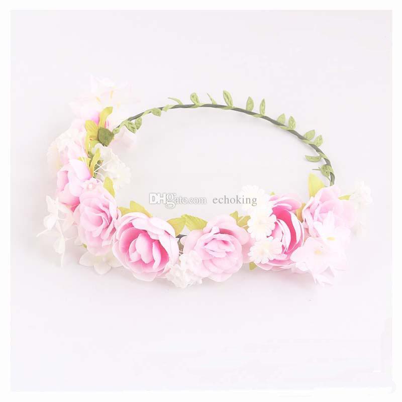 New Flashing Flower Headband Garland Women/'s LED Light Up Hair Band Headwear·0U