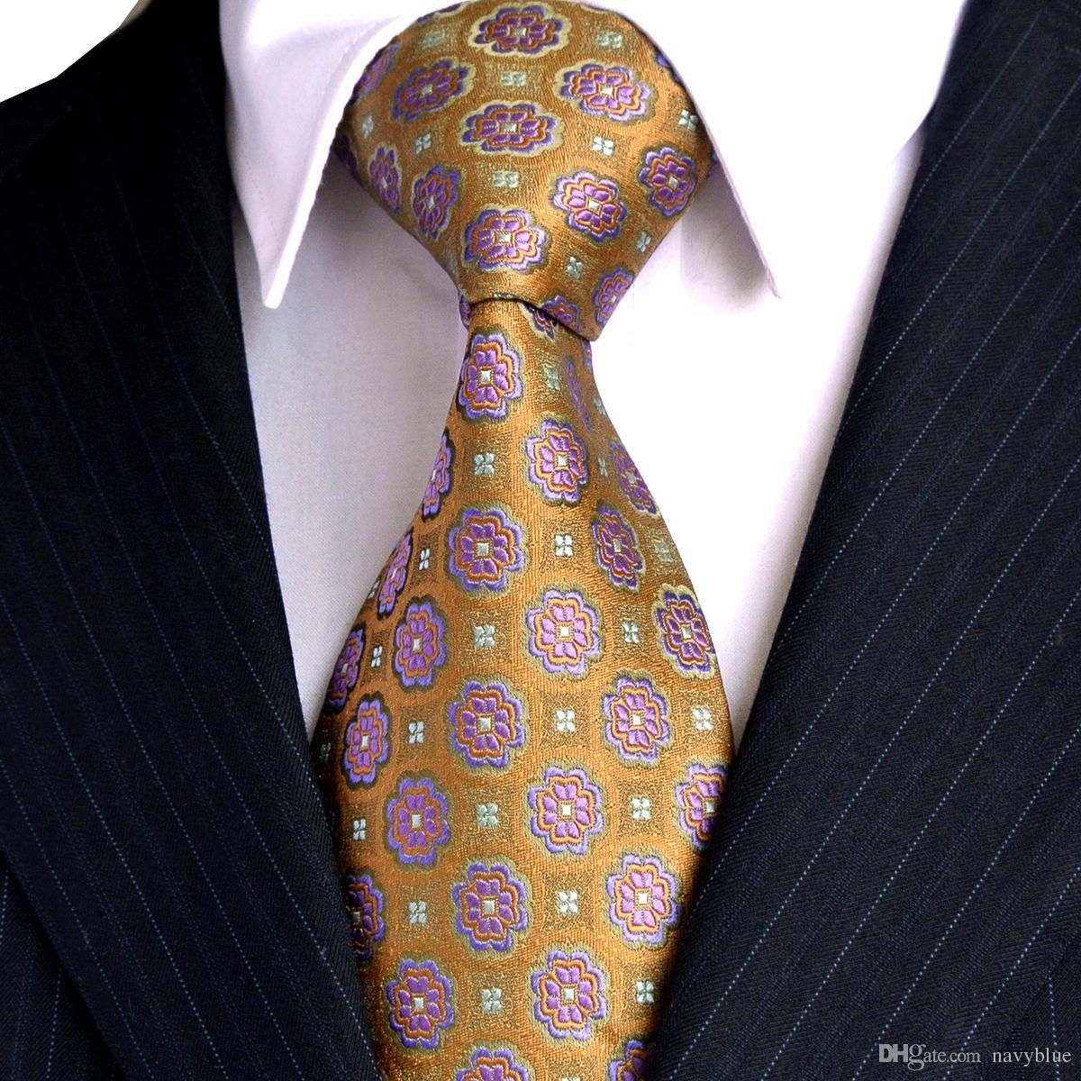 C32 النقاط متعدد الألوان صفراء كاكي رجل ربطات العنق 100 ٪ الحرير الجاكار المنسوجة شحن مجاني بالجملة اليدوية العلامة التجارية الجديدة