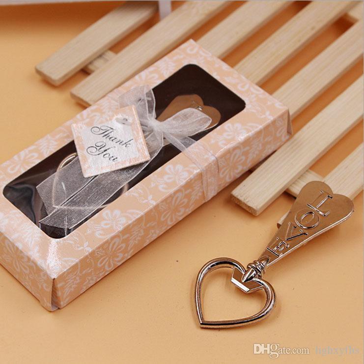 Creative Love Bottle Openers Heart Shaped Metal Bottles Opener Durable Beer Opening Tools For Kitchen Wedding Party Gifts