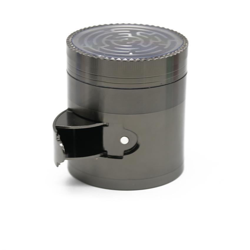 2 в 1 Лабиринт мясорубки сторона открыта может потушить табак металлический сплав цинка 63 мм 4 слоя высокое качество специй ручной Мюллер курение Дробилка 1021