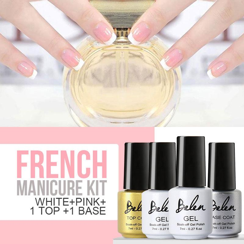 Wholesale Belen 7ml Gel Nail Polish French Manicure Pink White ...