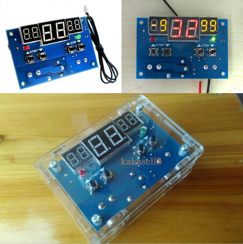 DC 12V Digital LED Temperature Controller 10A Thermostat Control Switch Probe