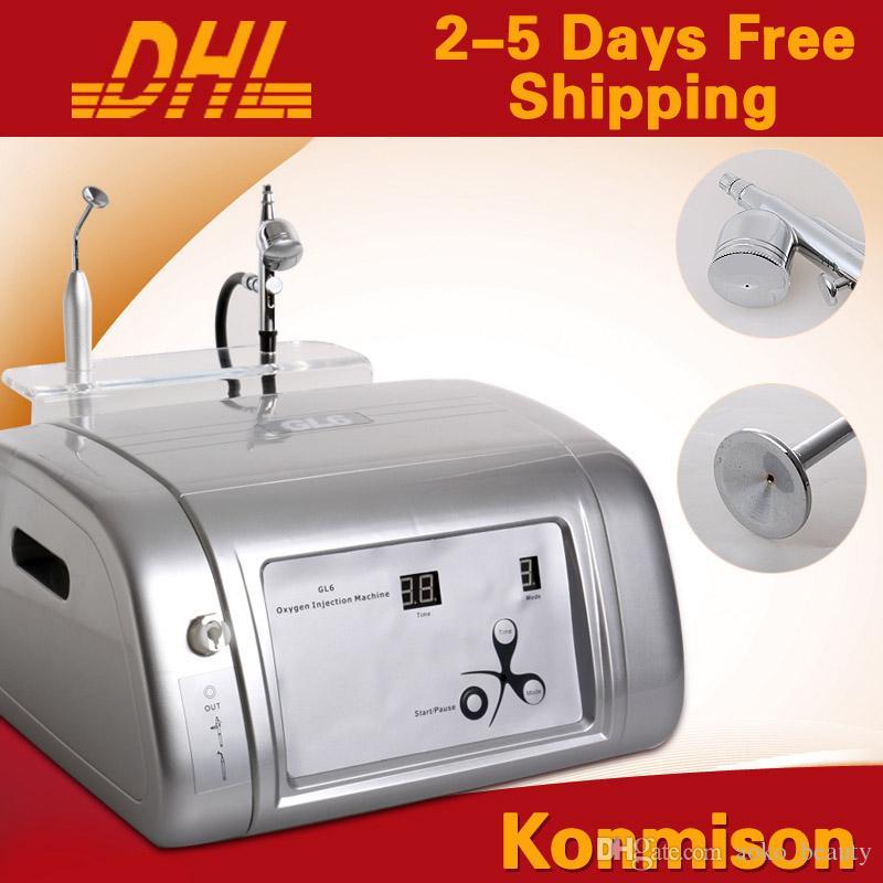 2 en 1 máquina facial de oxígeno pulverizador de oxígeno portátil para rejuvenecimiento de la piel limpieza facial peeling con chorro de oxígeno