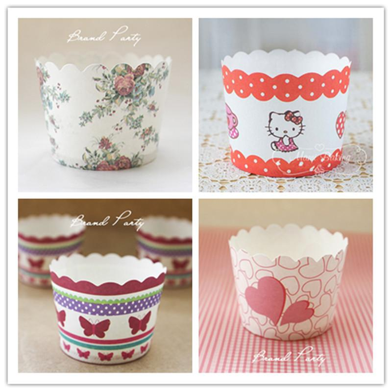 Kitchen Supply Paper Muffin/Cupcake Molds Greaseproof Cupcake Liners Cupcakes Papers 50 pcs/lot