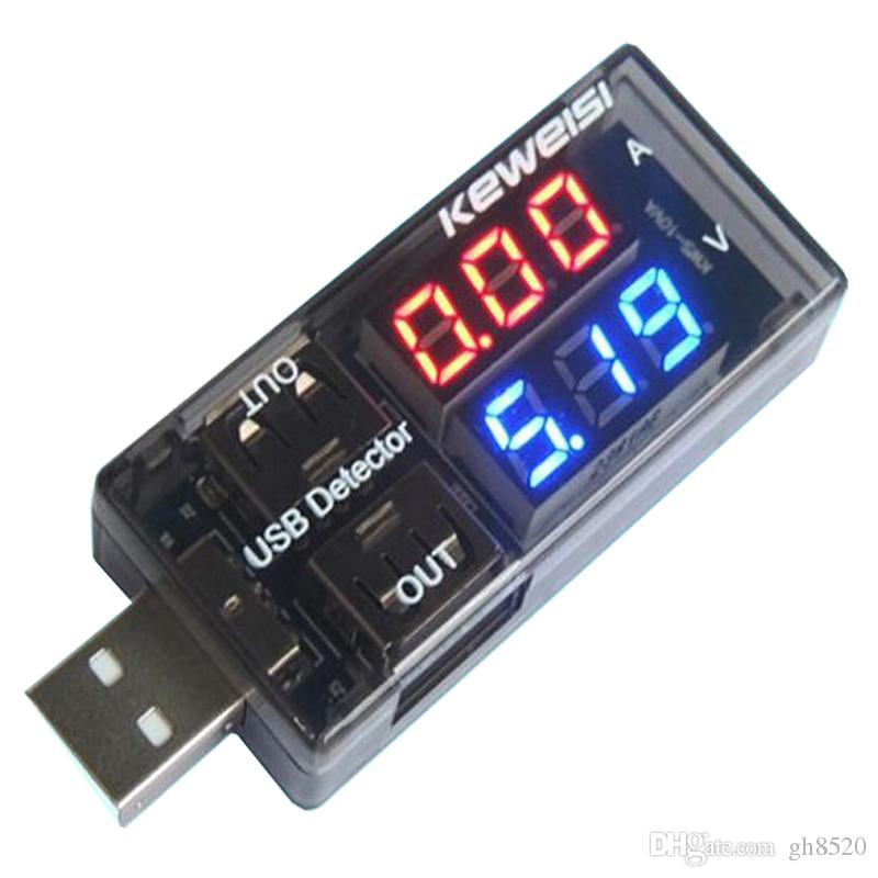 KWS-10VA Current Voltage Tester USB Detector Double USB LCD Display Power Bank Doctor Computer / Cell Phone / Chargers Power Battery Tester