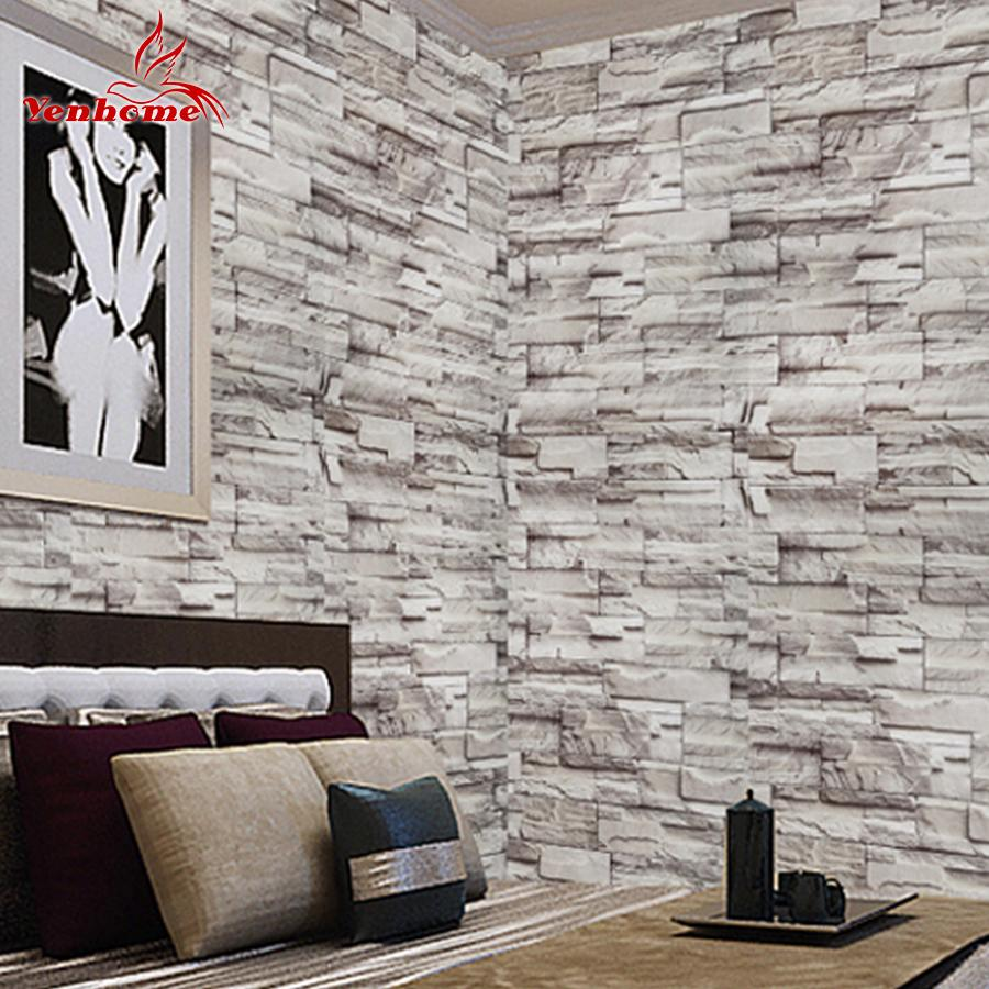 5Meter Toilet Stickers Self Adhesive Vinyl 3D Vintage Brick Wallpaper For Living Room Kitchen Waterproof Wall Sticker Home Decor Decal