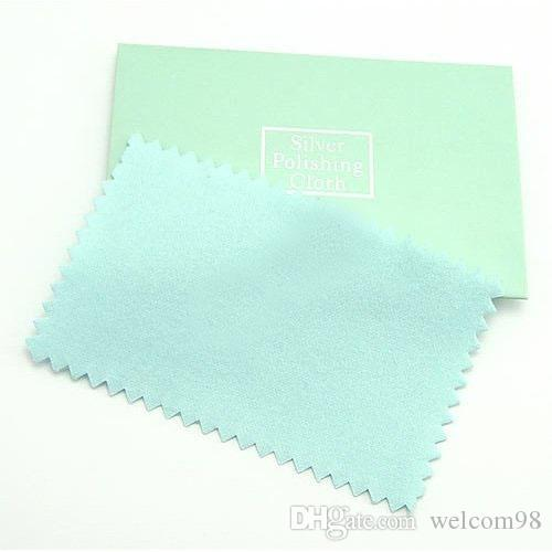 10pcs/lot Silver Jewelry Cleaning Polishing Cloth For DIY Craft Fashion Jewelry Gift Free Shipping 6x10cm CL2