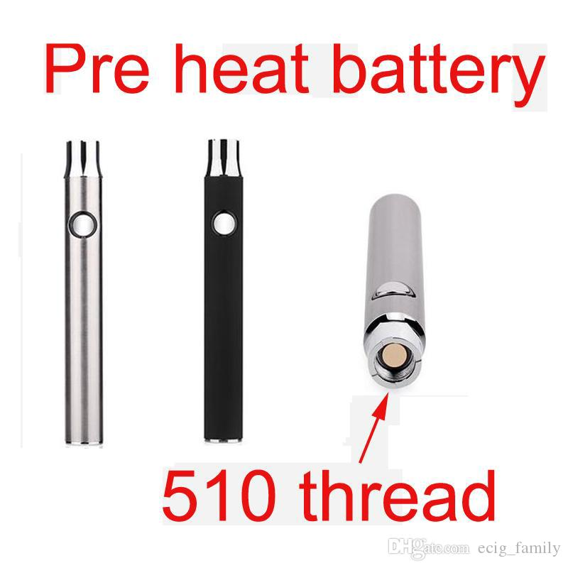 Hohe Qualität Preheat 510 Gewinde Lo 350mah Batterie variable Spannung Dickes Öl-Ölknopfbatterie gegen Knospenberührung Mix2 knopflose Batterie